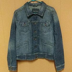 Maurice's 2XL medium wash stretch denim jacket